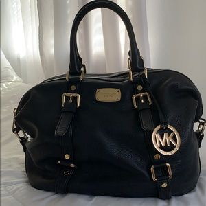 Black and Gold Michael Kors Handbag